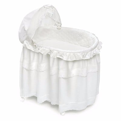 Badger Basket Long Skirt Portable Bassinet 'N Cradle with Toybox Base Review