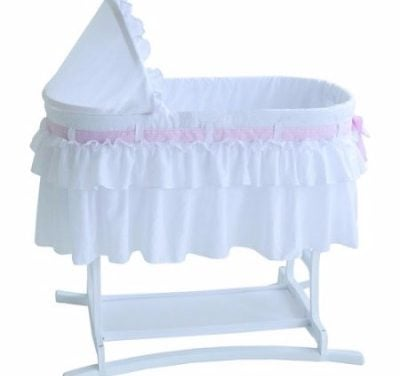 Lamont Home Good Night Baby Bassinet with Full White Skirt Review